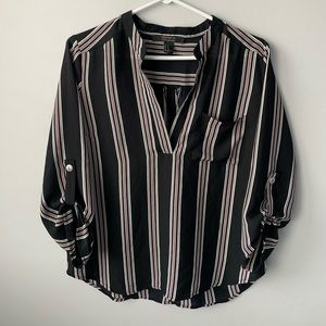 Forever 21 Contemporary Striped Blouse